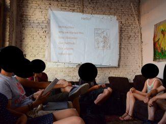 Meeting van activisten