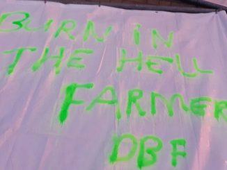 Activisten bekladden boerderij